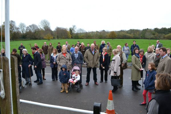 Villagers gather for the Remembrance Service