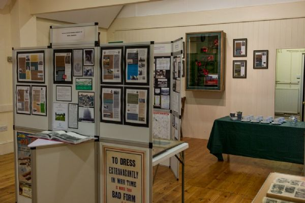 Poppies display case and exhibition