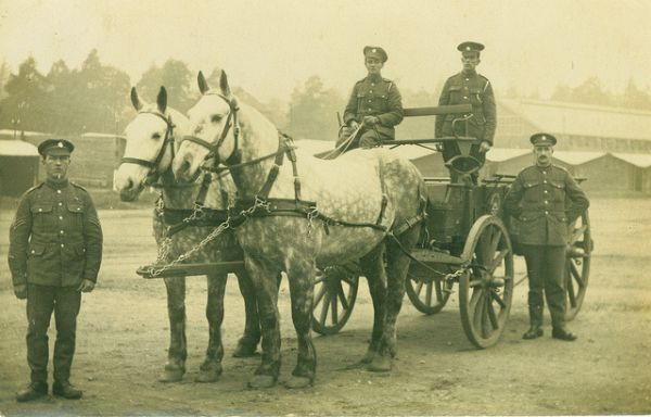 ASC Horse drawn transport of WW1