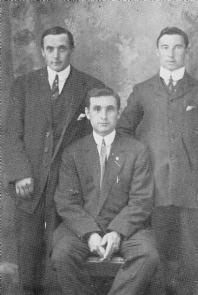 Walter Dicker top R, Alf & Shep Grigg seated